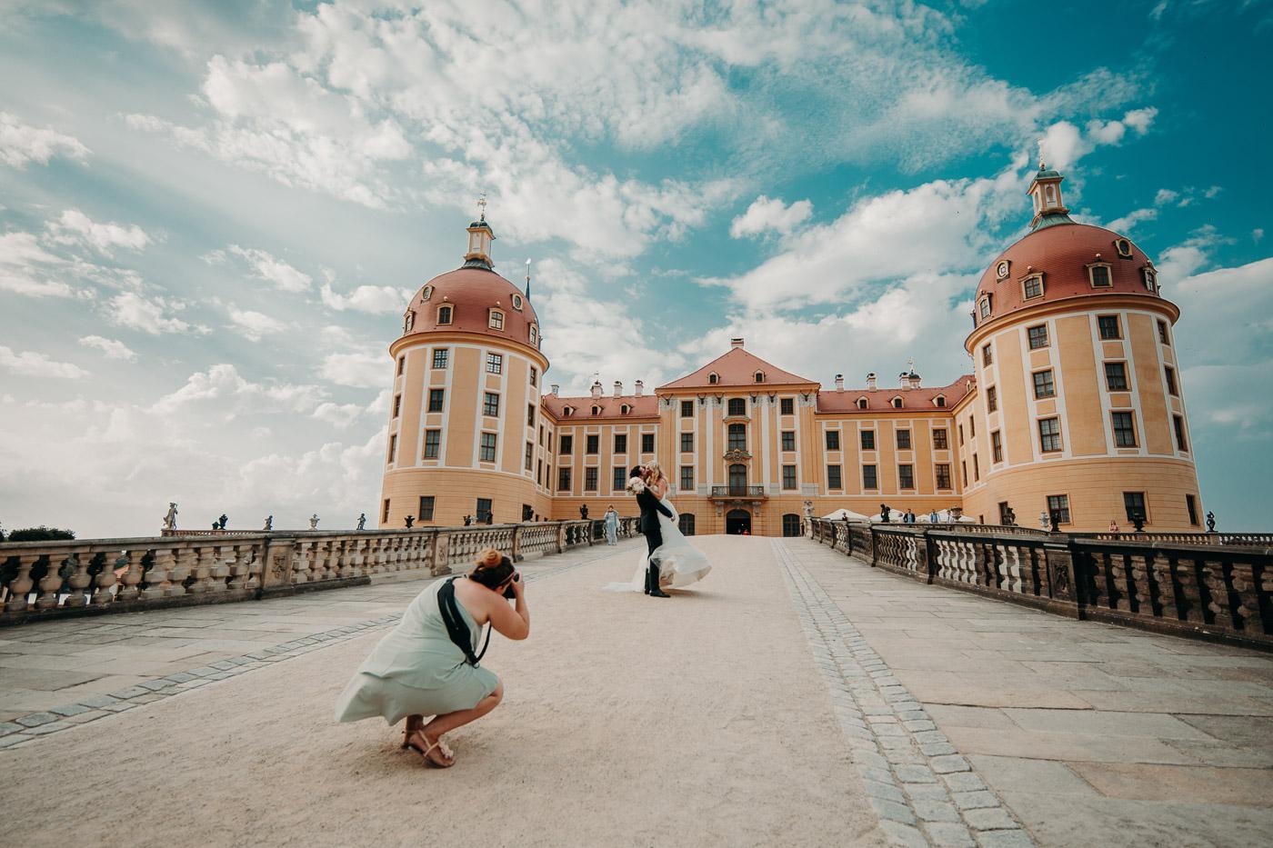 Hochzeitsfotograf Dresden Radebeul Schloss Moritzburg